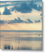 Beautiful Clouds Over Pamlico Sound Metal Print