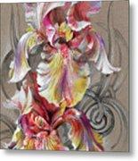 Beautiful Fantastic Realistic Flowers Metal Print