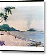 Beautiful Goa Beach Metal Print