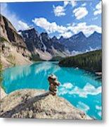 Beautiful Moraine Lake In Banff Metal Print
