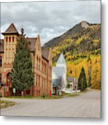 Beautiful Small Town Rico Colorado Metal Print