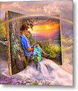 Becoming Part Of The Story In Watercolors Metal Print