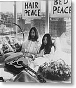 Bed-in For Peace Metal Print