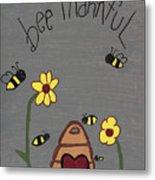 Bee Thankful Metal Print