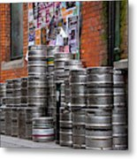 Beer Cans Metal Print