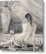 Before The Bath Metal Print