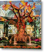 Bellagio Conservatory Enchanted Talking Tree Ultra Wide 2018 2.5 To 1 Aspect Ratio Metal Print
