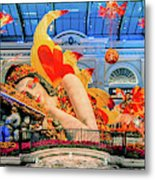 Bellagio Conservatory Falling Asleep Display Wide 2018 2.5 To 1 Aspect Ratio Metal Print