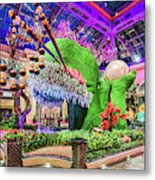 Bellagio Conservatory Spring Display Front Side View Wide 2018 2 To 1 Aspect Ratio Metal Print