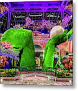Bellagio Conservatory Spring Display Ultra Wide 2 To 1 Aspect Ratio Metal Print