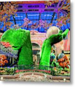 Bellagio Conservatory Spring Display Ultra Wide Trees 2018 2 To 1 Aspect Ratio Metal Print