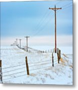 Bend In The Road Metal Print