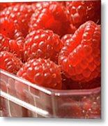 Berries In Carton Metal Print