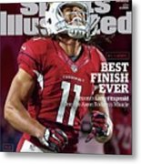Best Finish Ever Arizonas Larry Fitzgerald One-ups Aaron Sports Illustrated Cover Metal Print