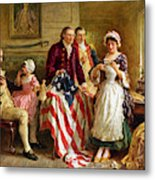 Betsy Ross and General George Washington Metal Print