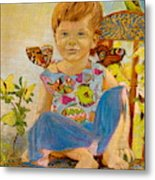 Bianka And Butterflies Metal Print