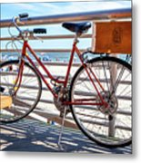 Bicycle At The Beach Metal Print