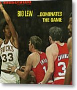 Big Lew . . . Dominates The Game Sports Illustrated Cover Metal Print