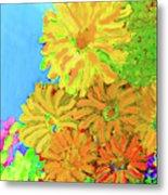 Biggie Flowers Sky Metal Print