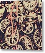 Bike Mountain Metal Print