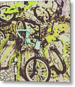 Bikes And City Routes Metal Print