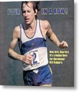 Bill Rogers, 1979 New York City Marathon Sports Illustrated Cover Metal Print