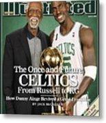 Bill Russell And Boston Celtics Kevin Garnett, 2008 Nba Sports Illustrated Cover Metal Print