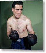 Billy Conn Posing In Boxing Attire Metal Print