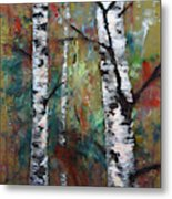 Birch Portrait I Metal Print