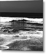 Black And White Beach 7- Art By Linda Woods Metal Print