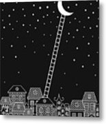 Black And White To The Moon And Back Metal Print
