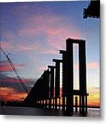 Black River Bridge Metal Print