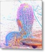 Black-tailed Jackrabbit Metal Print