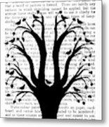 Blackbirds In A Tree - Central Metal Print