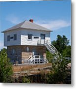 Blockhouse At Kingston Mills On The Rideau Canal Metal Print
