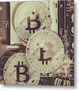 Blocks Of Bitcoin Metal Print