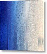 Blue And Silver Metal Print