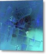 Blue Azure Metal Print