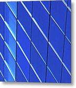 Blue Glass Modern Building Metal Print