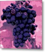 Blue Grape Bunches 6 Metal Print