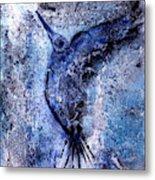 Blue Hummingbird Metal Print