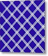 Blue Knit Metal Print