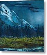 Blue Mountain Top Metal Print