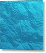 Blue Ocean Water Surface As Seen From Metal Print