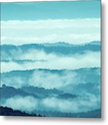Blue Ridge Mountains Layers Upon Layers In Fog Metal Print