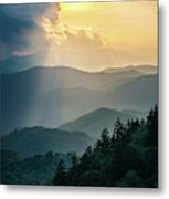 Blue Ridge Parkway Nc From Above Metal Print