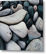 Blue Rock Garden Metal Print