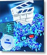 Blue Screen Entertainment Metal Print