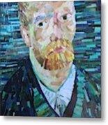 Blue Van Gogh Metal Print