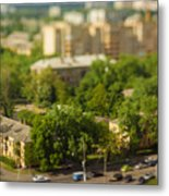 Blurry Tilt-shift Cityscape Background Metal Print